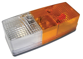 BE3184-061-Lamp-Clear-Amber-Rectangle-Right-Hand